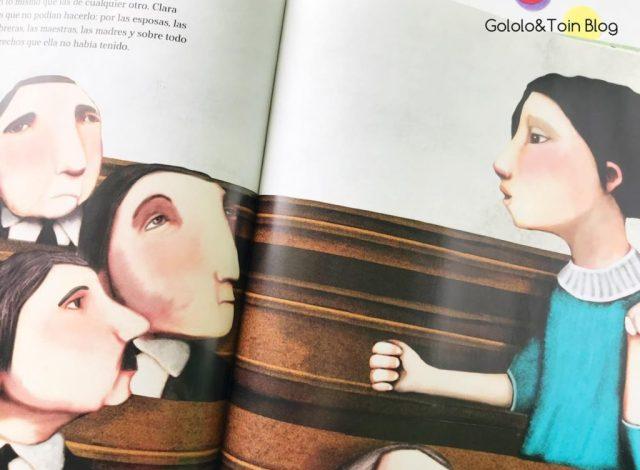 Clara Campoamor álbum ilustrado
