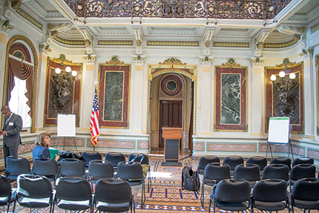 The Indian Treaty Room in The Eisenhower Executive Office Building