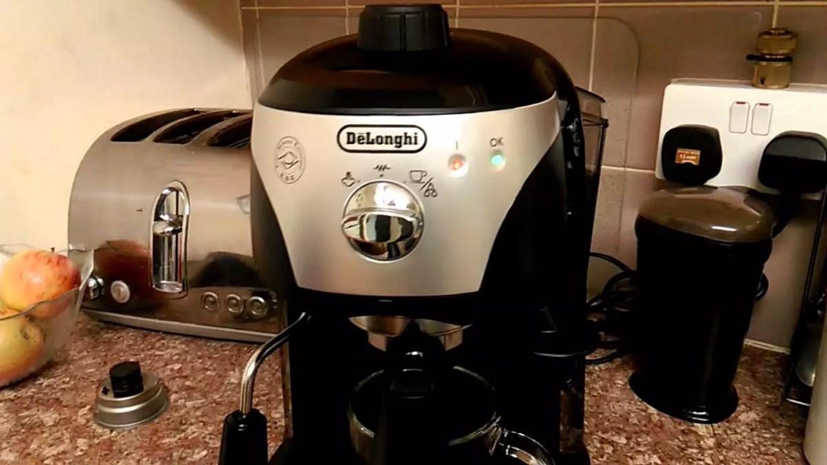 ماكينة قهوة اسبريسو ديلونجي ec221 سعر ومواصفات وعيوب