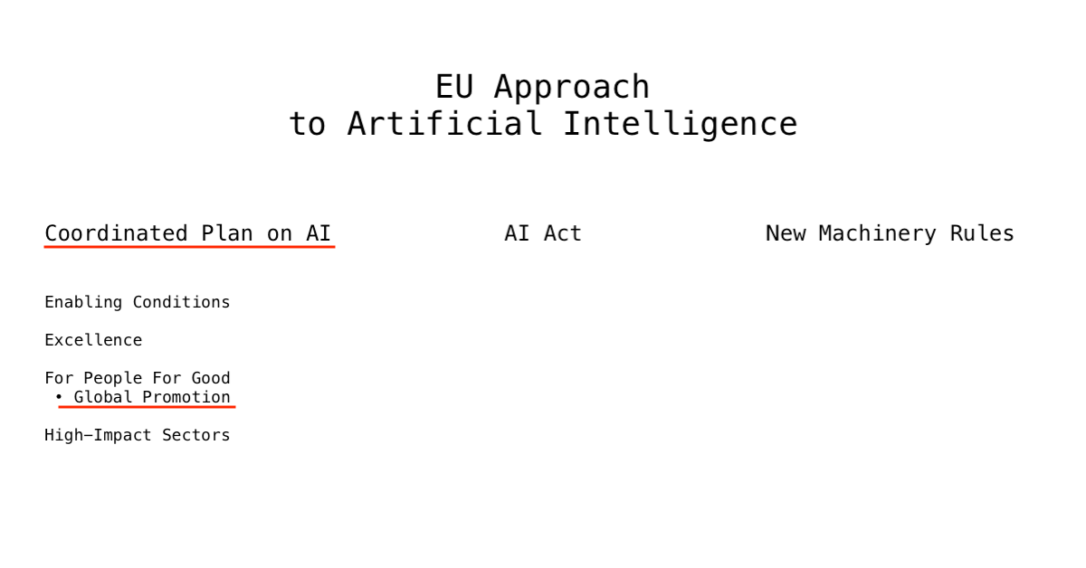 Coordinated Plan on AI as part of EU Approach to AI