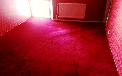 Röd Textilmatta
