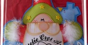 Adorno de Papa Noel Feliz Navidad