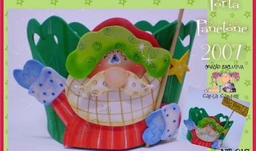 Porta panetone Papa Noel