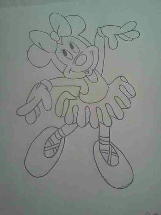 Minnie De Centro Mouse Un Mesa Hacer Como De