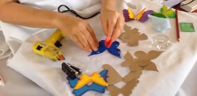 Mariposas 3D en goma eva 4