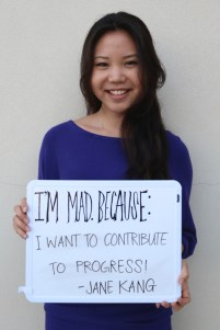 Jane is making a difference because she wants to contribute to progress!