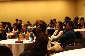 Participants listening