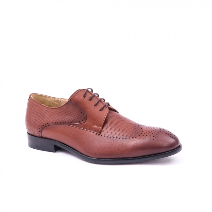 Pantofi barbati eleganti piele naturala Nevalis 116, coniac