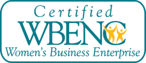 Certified women owned company logo