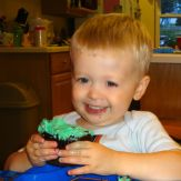 Loving this green frosting on my 2nd bday