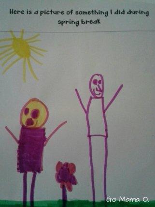 Kid's depiction of Spring Break