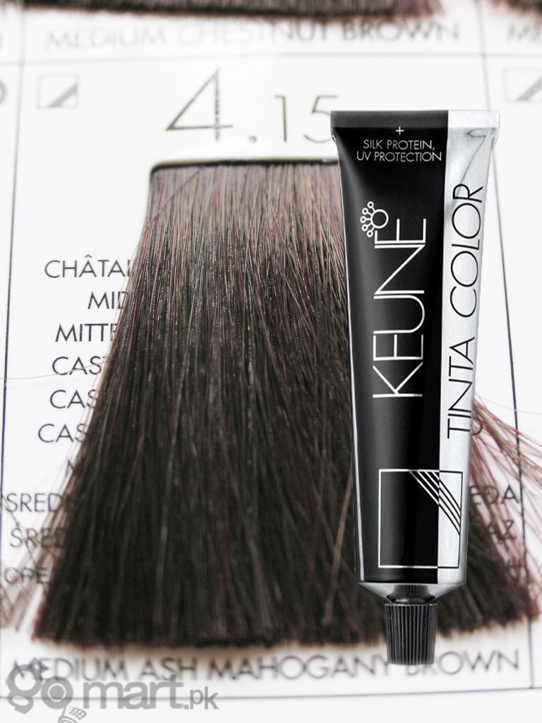 Keune Tinta Color Medium Ash Mahogany Brown 415 Hair