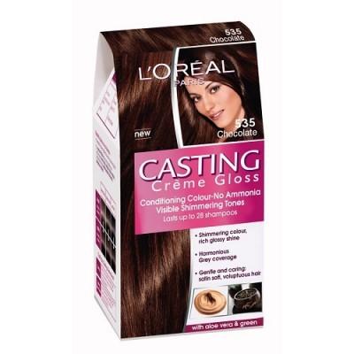 loreal paris casting creme gloss 535 chocolate hair color dye gomart