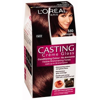 loreal paris casting creme gloss 550 mahogany hair color dye gomart