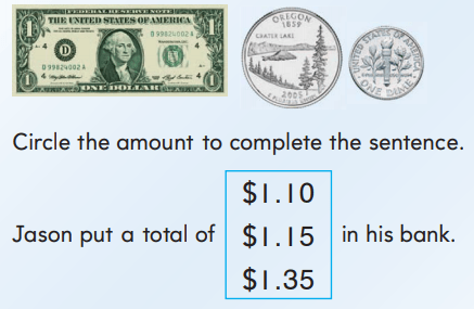 2nd Grade Go Math Answer Key Chapter 7 Money and Time 7.6 7