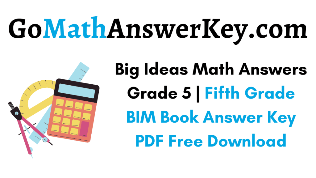 Big Ideas Math Answers Grade 5