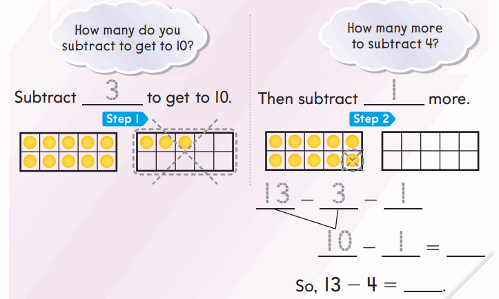 Go Math 1st Grade Answer Key Chapter 4 Subtraction Strategies 101