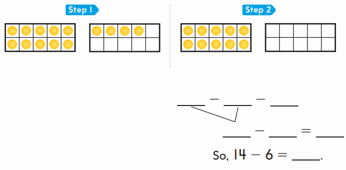 Go Math 1st Grade Answer Key Chapter 4 Subtraction Strategies 104