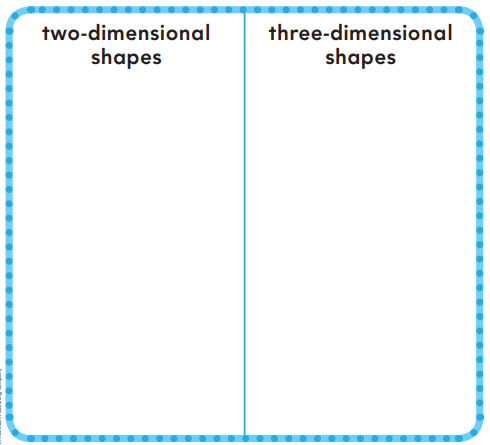 Go Math Answer Key Grade K Chapter 10 Identify and Describe Three-Dimensional Shapes 10.6 1