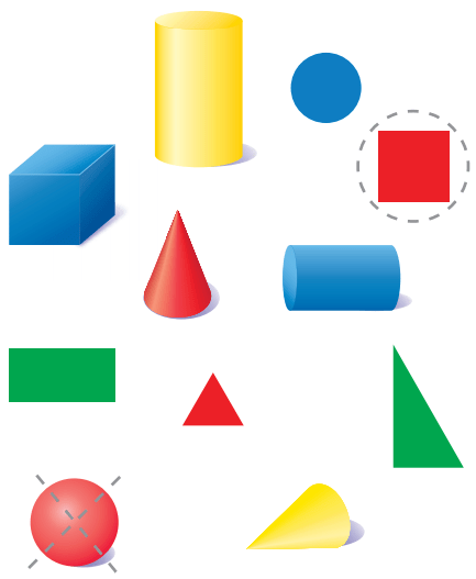 Go Math Answer Key Grade K Chapter 10 Identify and Describe Three-Dimensional Shapes 10.6 2