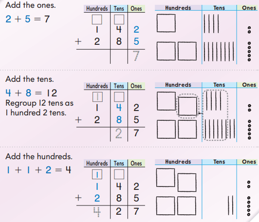 Go Math Grade 2 Answer Key Chapter 6 3-Digit Addition and Subtraction 6.4 3