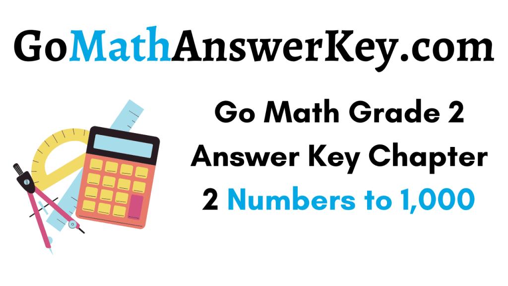 Go Math Grade 2 Answer Key Chapter 2