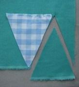 3. a háromszögek kivágása