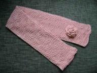 2. csini mályvaszínű sál rózsával