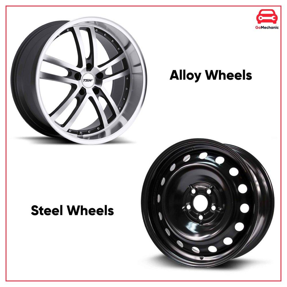 Alloy Wheels Vs Steel Wheels   GoMechanic Basics