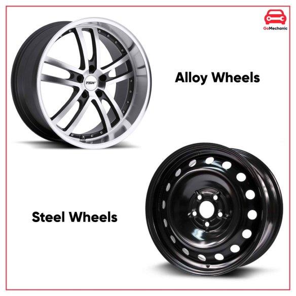 Alloy Wheels Vs Steel Wheels | GoMechanic Basics | GoMechanic Blog