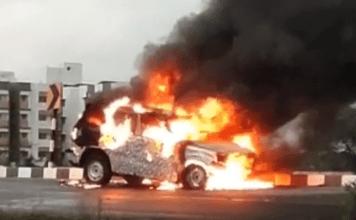 The Next-gen Mahindra Scorpio is on fire. Literally!