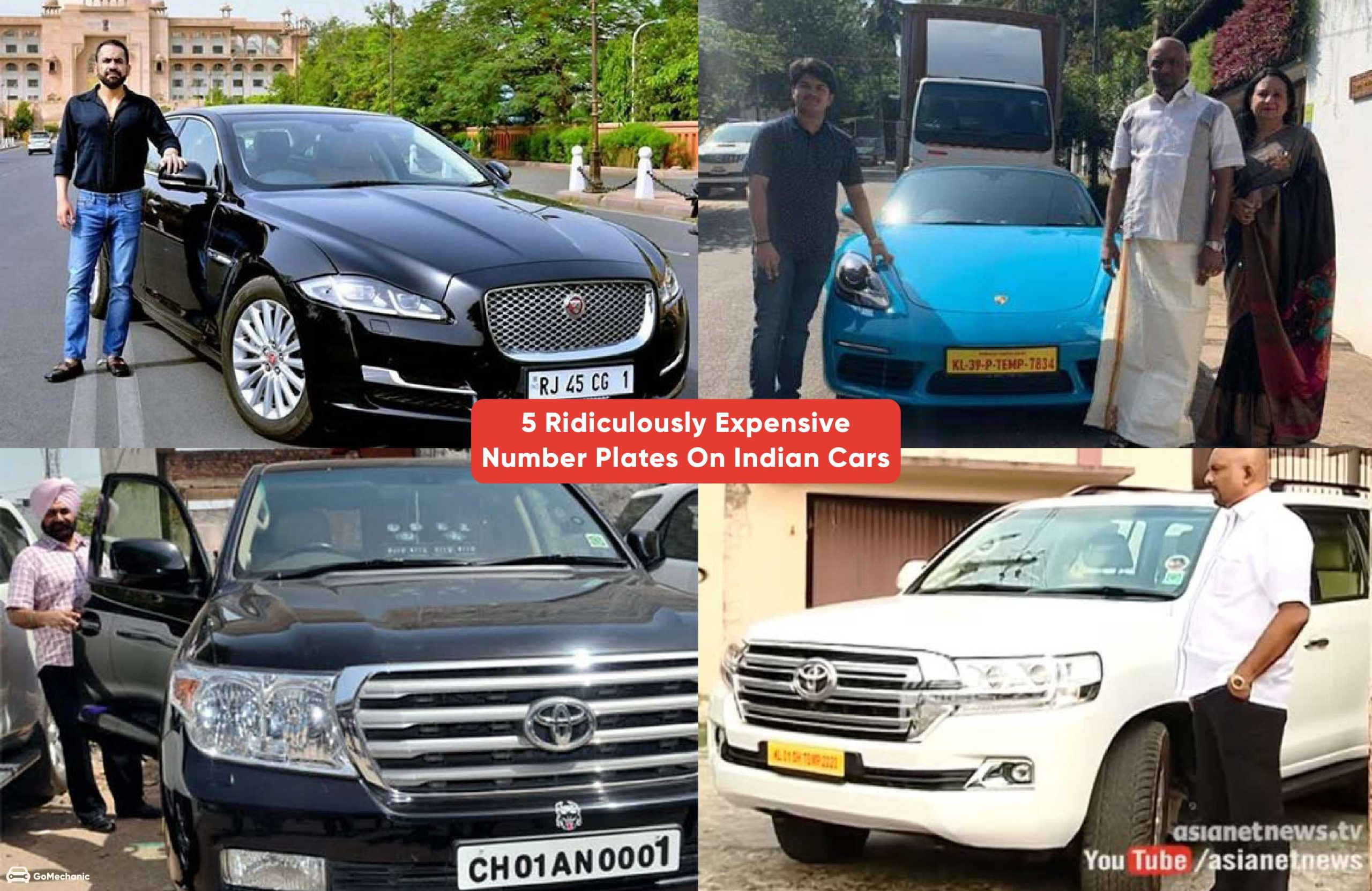 5 Ridiculously Expensive Number Plates In India