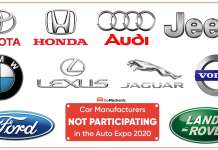 Car Manufacturers NOT Participating in the Auto Expo 2020