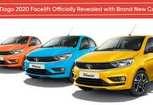 Tata Tiago 2020 BS6 Facelift Officially Revealed with Brand New Colours