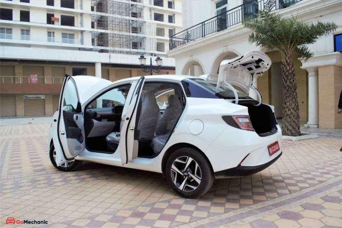 Hyundai Aura Rear Profile 2 (Doors Open)