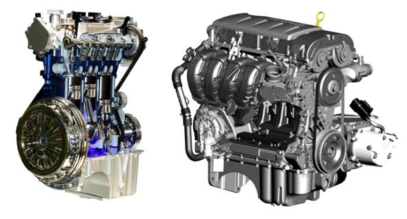 3 cylinder and 4 cylinder engines
