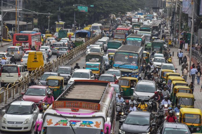 The miserable Bangalore traffic.