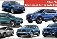 Top 5 Full Sized SUVs Showcased at the Auto Expo 2020