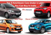 5 Cars Under 4 Lakhs You Can Buy Right Now