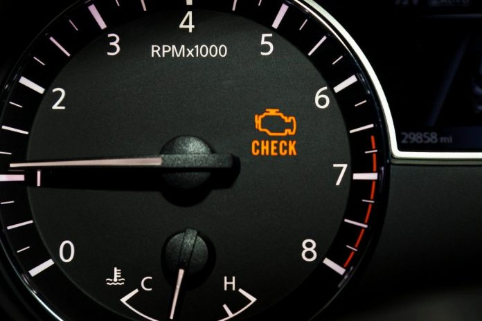 Engine Temperature Dashboard Warning Light