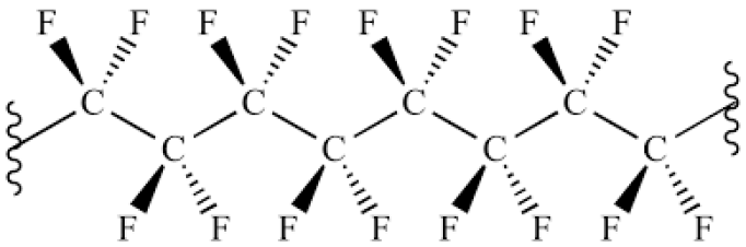 The organic structure of Teflon