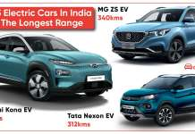 Top 3 electric cars in India with the longest range