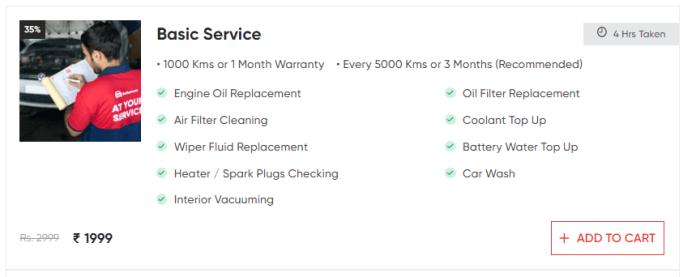 GoMechanic's Basic Service Package for Maruti Suzuki Alto