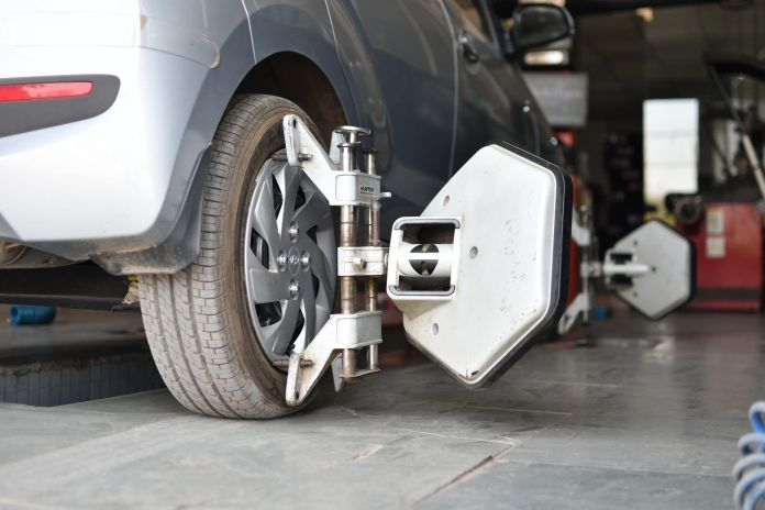 Wheel Alignment Service on a 2018 Hyundai Santro