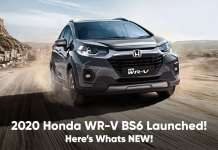 2020 Honda WR-V BS6 Launched
