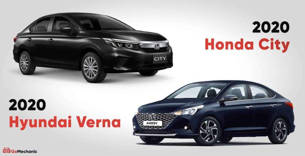 2020 Honda City vs 2020 Hyundai Verna