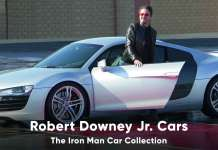 Robert Downey Junior Cars Iron Man Car Collection