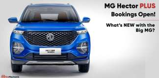 mg hector plus booking open