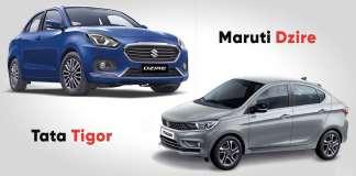 Tata Tigor vs Maruti Suzuki DZire