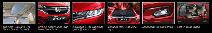 Honda Jazz Key Features and Enhancements